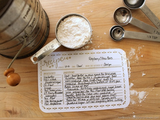 Lifestyle Crafts Embossed Recipe Cards - homework (7)