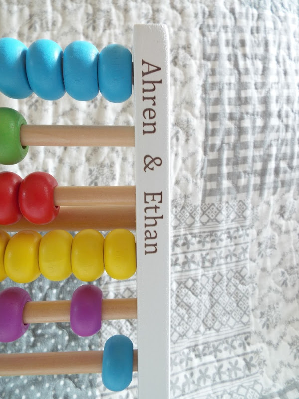 My 1st Years personalised abacus