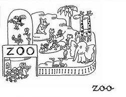 Dibujos De Zoologico Para Colorear