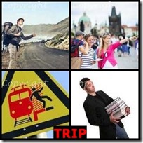 TRIP- 4 Pics 1 Word Answers 3 Letters