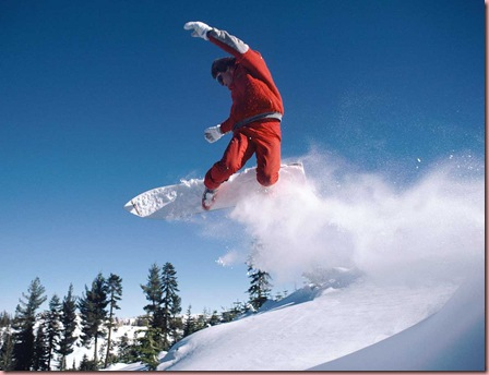 The Adobe Image Library ©1998 Adobe Systems Incorporated  Snowboarder in mid-air