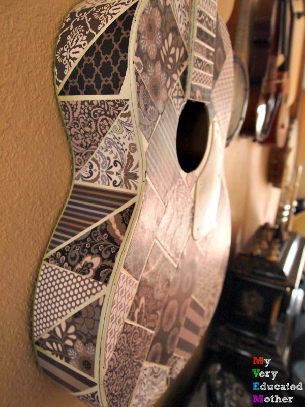 guitarsideview #crafts #modpodgeideas #DIYdecor