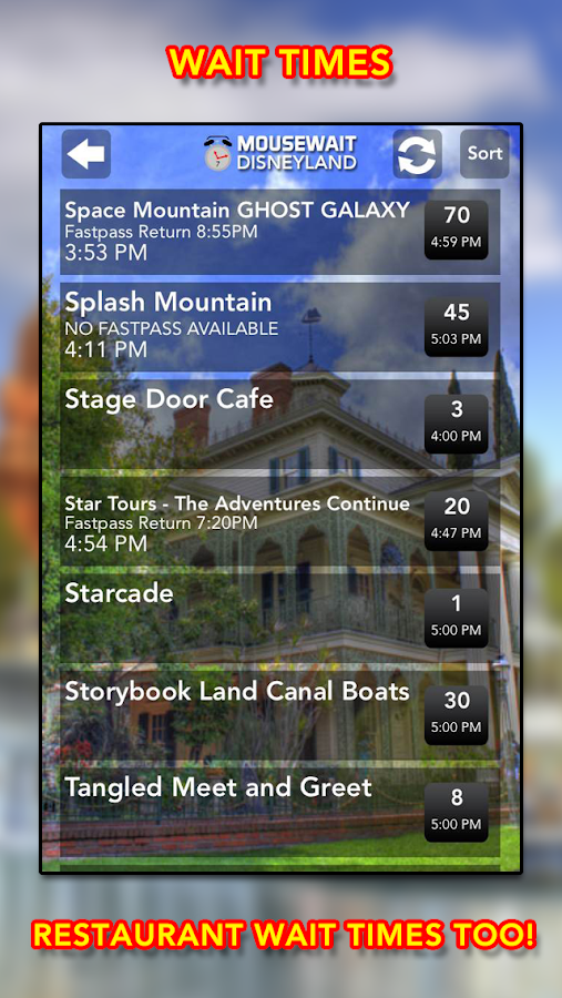 Disneyland MouseWait FREE - screenshot