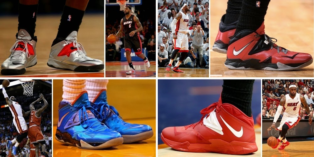 8f65758d6ab King James and His 26 Different Nike Zoom Soldier VII8217s in 201314 ...