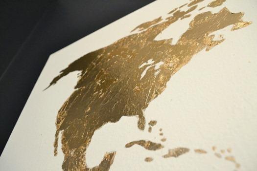 gold leaf closeup North America