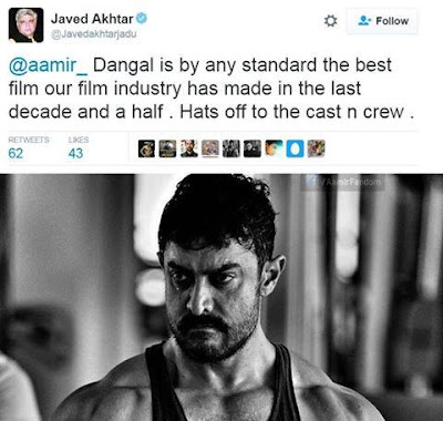 This time its the Legend Javed Akhtar himself All praises for Aamir