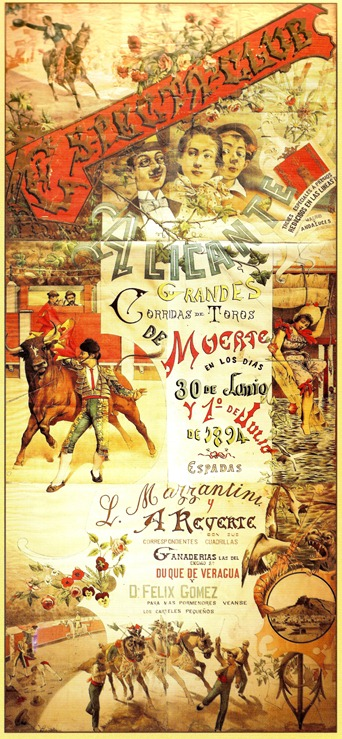 Cartel 1894 Alicante Mazzantini y Reverte 001