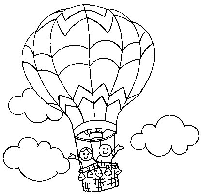 Dibujos De Globos Aeroestaticos Para Colorear