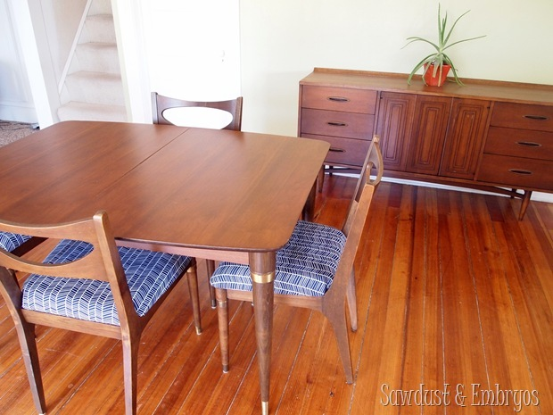 Fabulous 50's Dining Set (including buffet!) completely restored {Sawdust and Embryos}