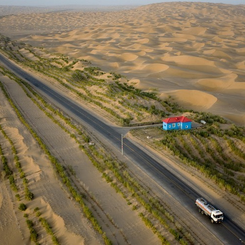 The Green Belt Along The World's Longest Desert Highway