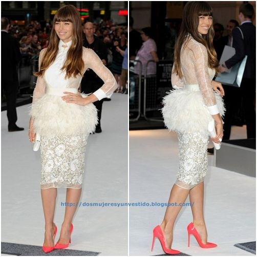 Jessica Biel -premiere of Total Recall in London