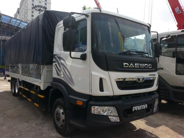 Xe tải 3 chân Daewoo thùng bạt
