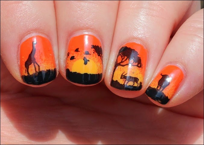 Nail Art Nageldesign Africa Safari 3