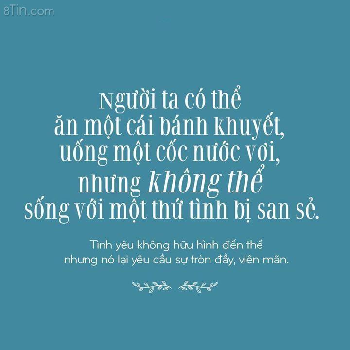 Không thể sống với một tình yêu bị san sẻ :)