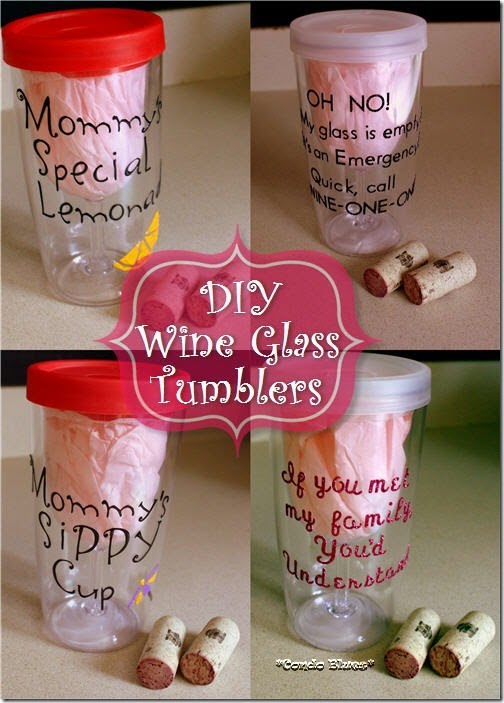 Condo Blues Diy Personalized Insulated Wine Glass Tumblers
