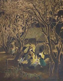 Tranh sơn dầu, vẽ năm 1962 của họa sĩ Nguyễn Anh. Đây là một trong ba bức tranh thuộc hàng quý hiếm thuộc bộ sưu tập của cố linh mục Đaminh Trần Thái Hiệp (hiện được lưu giữ tại phòng truyền thống Đại chủng viện Giuse Sài Gòn)