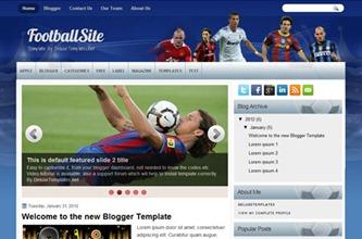 футбол-blogspot-шаблон