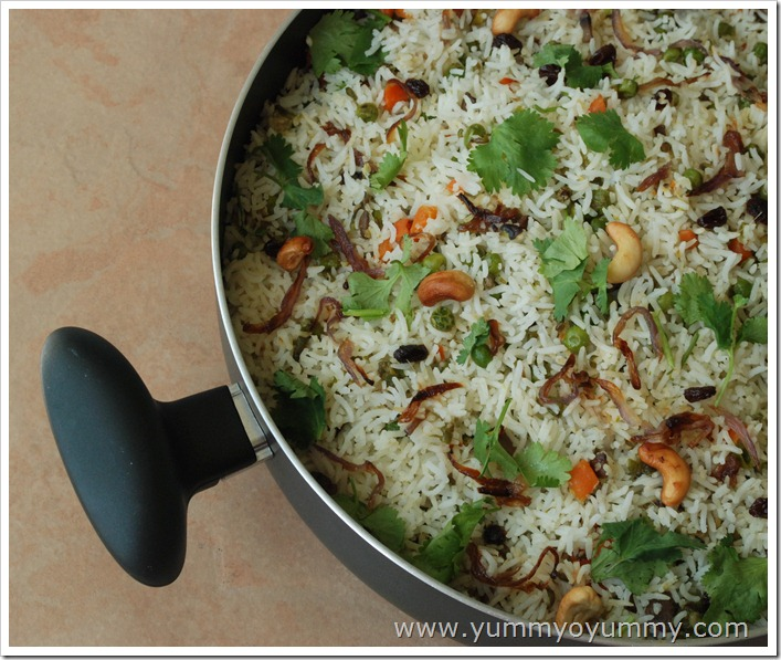Simple Vegetable Biriyani