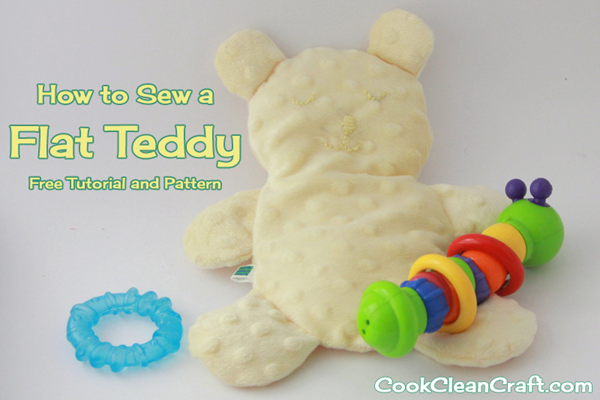 How to sew a flat teddy (free tutorial and pattern)
