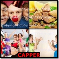 CAPPER- 4 Pics 1 Word Answers 3 Letters