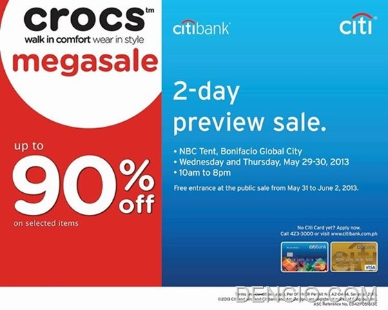 Citibank Crocs Preview Sale
