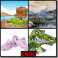 CROC- 4 Pics 1 Word Answers 3 Letters