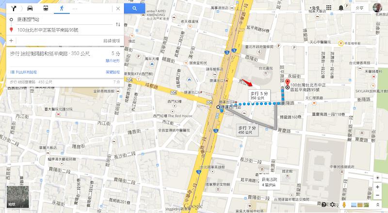 從西門站走路到上上咖啡路線圖.png