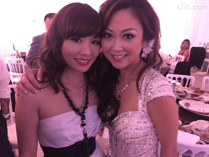 With the beautiful bride.