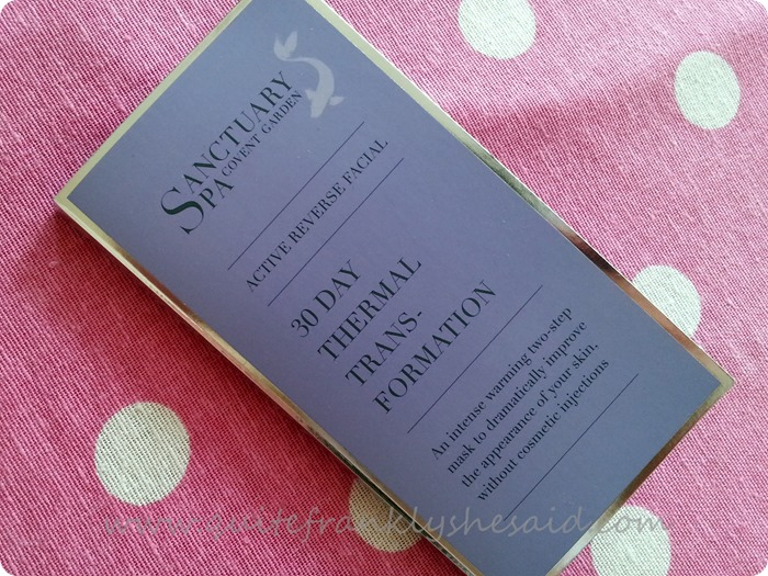 Sanctuary Active Reverse Facial 30 Day Thermal Transformation Mask