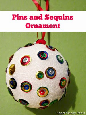 DIY for kids and adults: Pins and Sequins Ornament