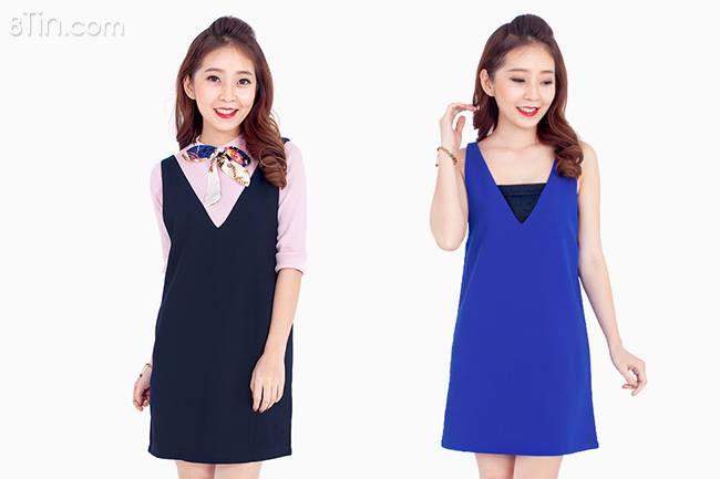 Đầm yếm nữ với kiểu dáng thời trang, thiết kế form dáng
