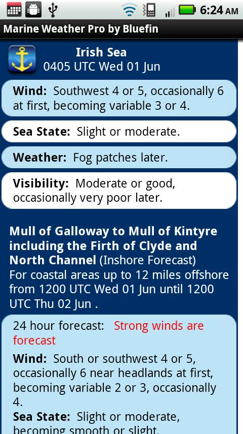 Marine Weather: UK Edition - screenshot