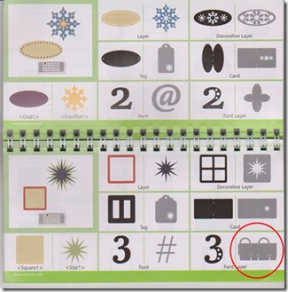 pg. 22-23 Cricut mini purse circled