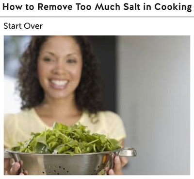"""A onestep solution to the """"too much salt"""" problem  """