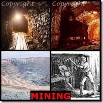 MINING- 4 Pics 1 Word Answers 3 Letters