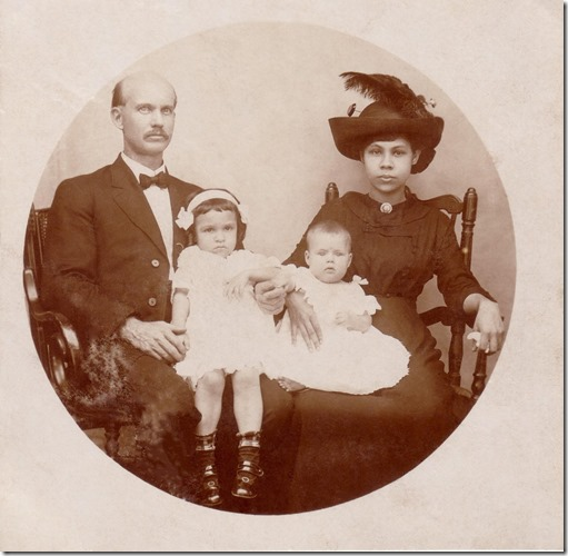 Fred and Esther Webster with Carlota and Edna Webster