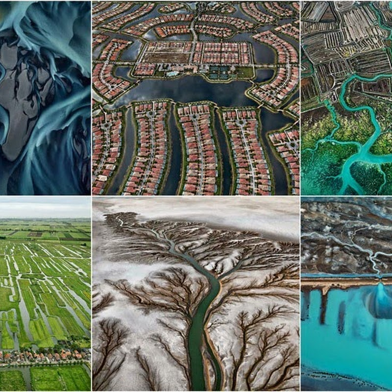 Ed Burtynsky's Aerial Pictures of Watery Landscape