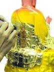 神像佛像的重新整理安金按金-慈悲地藏王菩薩整理-中間過程 -上金箔