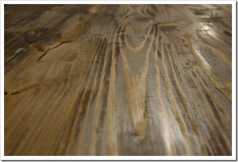 dark stained pine
