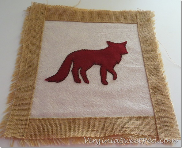 Fox Pillow in progress