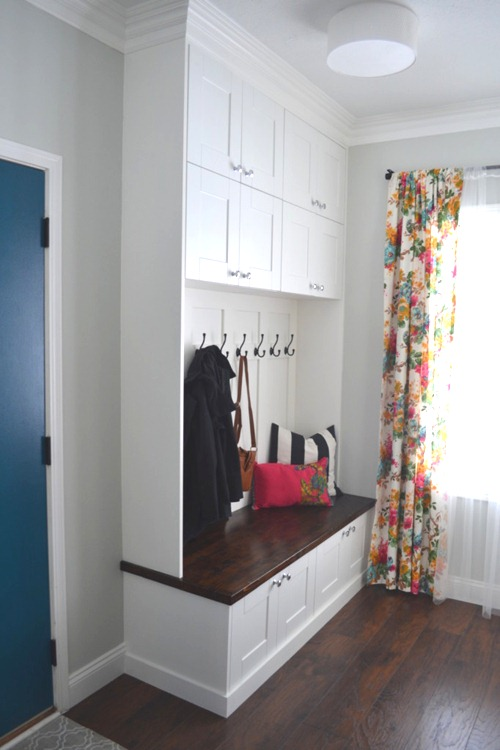 mudroom built ins to ceiling