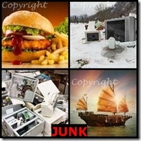 JUNK- 4 Pics 1 Word Answers 3 Letters