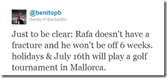 Twitter - @benitopb- Just to be clear- Rafa doe ...