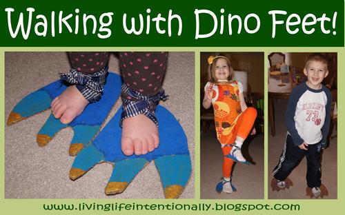 Make your own Dinosaur Feet Activity