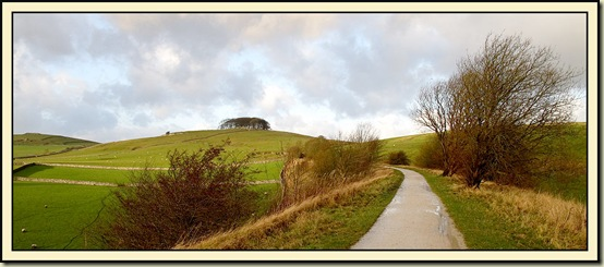 A view along the Tissington Trail, with Johnson's Knoll
