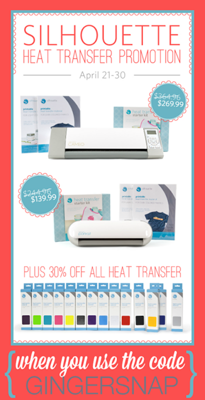 Silhouette Heat Transfer Promotion at SilhouetteAmerica.com using the code GINGERSNAP at checkout #SilhouetteCAMEO #SilhouettePortrait #spon [12]