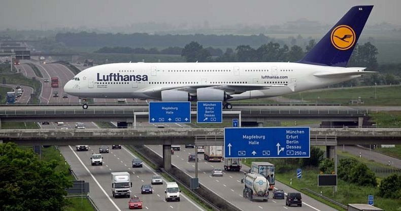 Runway Over The Highway At Leipzig Halle Airport Take Off With Natarajan