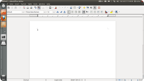 LibreOffice Writer 3.5.5.3 on Ubuntu 11.10 Oneiric Ocelot, invisible Writer icon in Launcher