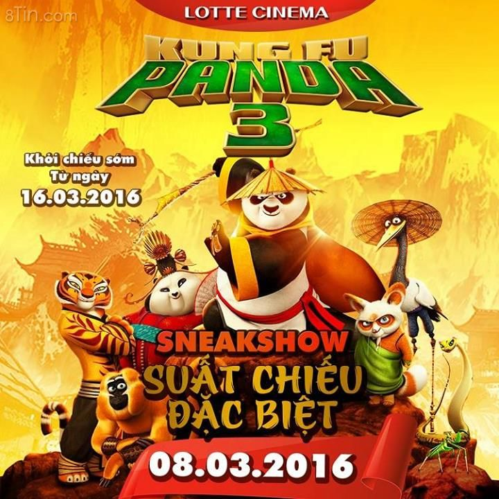 Kungfu Panda 3, suất chiếu sớm đặc biệt ngày 8.3