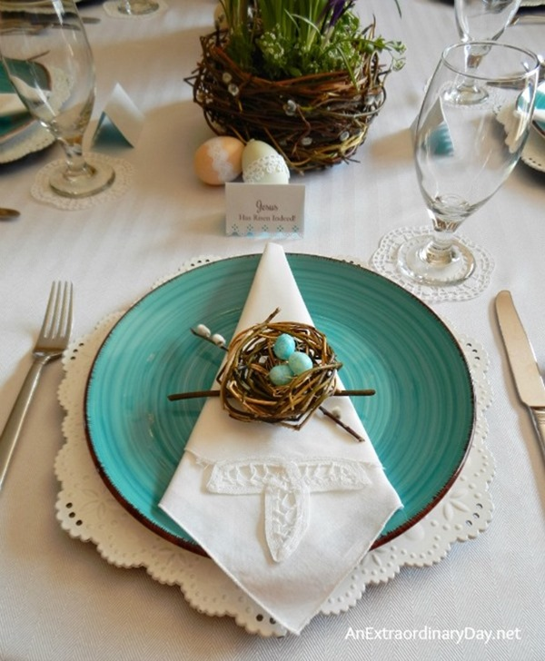 Handmade-Birds-Nests-Themed-Easter-Table-Dressed-up-with-Eyelet-Lace-AnExtraordinaryDay.net_